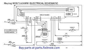 Buy Maytag Dishwasher Maytag Mdb7160aww Dishwasher Schematic With Bonus Service Bulletin