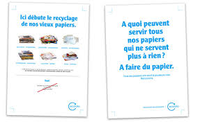 recyclage papier de bureau le tri au bureau affiches ecofolio