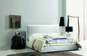 Modern White Queen Bed Soft Bed Modern U0026 Transitional Upholstered Beds In Eco Leather