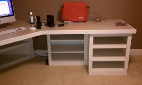 diy corner desk plans one and 1 4 sheet plywood corner desk that