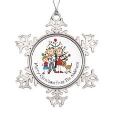 expectant couple with boy dog cat ornament beautiful