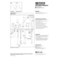 delta faucet 980t dst pilar polished chrome pullout spray kitchen