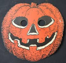 pumpkin mask vintage cardboard decoration pumpkin mask beistle dennison