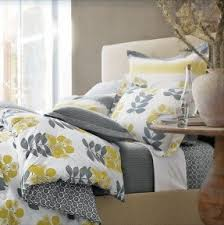 Yellow And White Duvet Yellow Bedroom Sets Foter