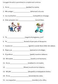 spanish verb conjugation worksheets free worksheets library