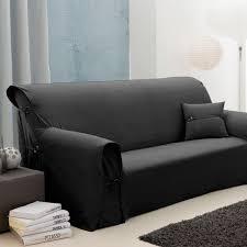 couvre canapé 3 places exemple housse de canape noir