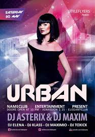 download the urban club party free flyer template