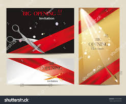 Invitation Card Grand Opening Grand Opening Invite Ideas Grand Opening Invitation Stock Vector