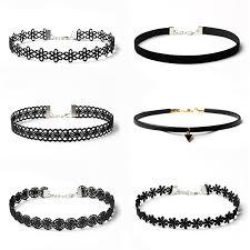 black chokers necklace images Ck0002 jn black choker necklace set stretch velvet classic gothic jpg