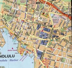 map of waikiki honoulu cruise port guide cruiseportwiki com