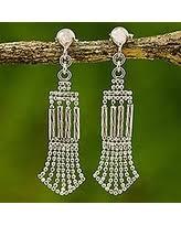 thailand earrings winter sale sterling silver chandelier earrings fringe