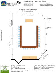 Conference Room Floor Plan El Norte Meeting Room Of Best Western Escondido Hotel