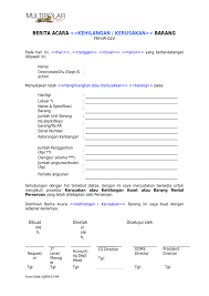 format berita acara kerusakan mesin contoh berita acara kerusakan barang wood scribd indo