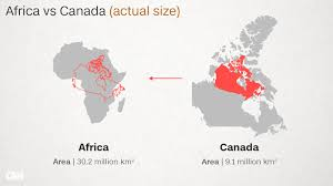 Canada On The Map by Why Do Western Maps Shrink Africa Cnn