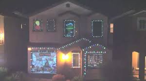House Christmas Light Projector by Christmas Light Projection Youtube