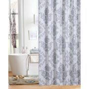 Silver And White Shower Curtain Shower Curtains Walmart Com