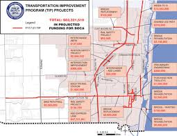 Boca Raton Map Traffic Improvements Mayor Susan Haynie