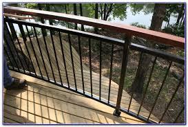 horizontal metal deck railing decks home decorating ideas
