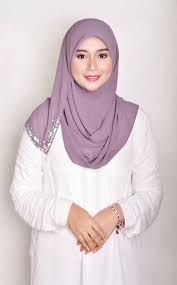 Dusty Purple Arissa Exclusive In Dusty Purple By Precious Aisy By Ayra Tudung