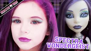 Halloween Costume Monster High by Spectra Vondergeist Monster High Doll Halloween Costume Makeup