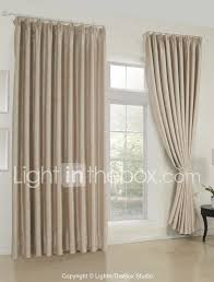 Livingroom Curtain by Two Panels Curtain Neoclassical Solid Living Room Rayon Material