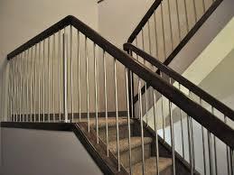 Painted Banisters Floor Amusing Metal Stair Rail Glamorous Metal Stair Rail