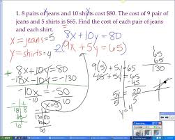 systems of equations word problems elimination method youtube
