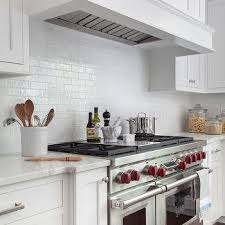 all white kitchen subway backsplash tiles design ideas