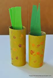 corn craft from toilet paper roll fspdt