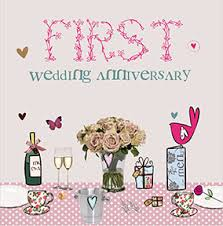 1st anniversary cards paper funky pigeon