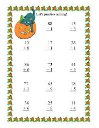 addition addition subtraction worksheets without regrouping