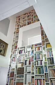 24 best inspiration built in bookcase images on pinterest built i love this floor to ceiling bookcase i mean it would be cool to have a built in reading area in the bookcase where that white thing is