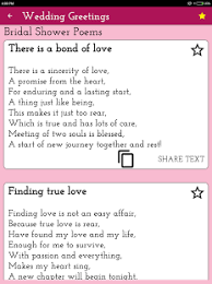Wedding Shower Poems Wedding Poems Wishes Greeting Cards U0026 Images U2013 Android Apps On