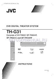 jvc home theater system jvc home theater system xv thg31 user u0027s manual download free
