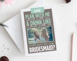 Bridesmaids Ideas Asking Asking Bridesmaid Etsy