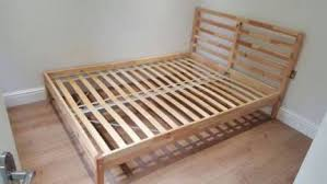 tarva double wooden bed frame natural pine wood ikea beds