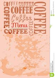 coffee shop menu template coffee shop menu template stock vector image of restaurant