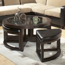 Coffee Table With Storage Ottomans Underneath Wooden Coffee Table With 4 Stools Coffee Addicts