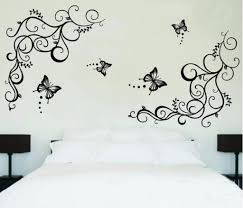 buy decals design lovely butterflies wall sticker pvc vinyl 60 buy decals design lovely butterflies wall sticker pvc vinyl 60 cm x 90 cm black online at low prices in india amazon in