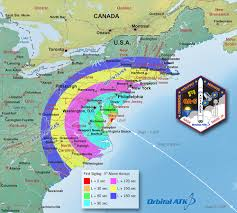 East Coast Florida Map by Orbital Atk Crs 5 Launch Viewing Maps Nasa