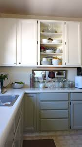 kitchen idea painting lower cabinets gray our white shows too