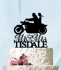 harley cake topper mr mrs wedding cake topper a husband and harley silhouette