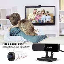 skype computer and tv webcams great video quality for online shop ausdom aw625 webcam 1080p full hd usb web camera skype
