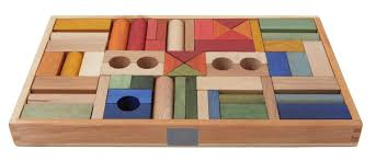 wooden story rainbow blocks in tray 54 pieces garmentory