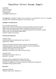Delivery Driver Resume Example by Driver Resumes Chauffeur Driver Resume Sample