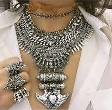bib necklace rhinestone images Bohemian style big rhinestone ivory tassel chunky chain large jpg
