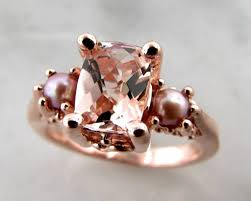 vintage rose rings images Morganite pearl rose gold ring old paris wexford jewelers jpg
