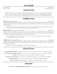 exles of resumes for restaurant ideas of cook resume exles exles of resumes beautiful resume
