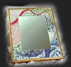 cornici con vetro specchio con cornice in mosaico di tessere di vetro realiz flickr