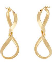 14k gold hoop earrings great deal on italian gold twisted hoop earrings 14k gold